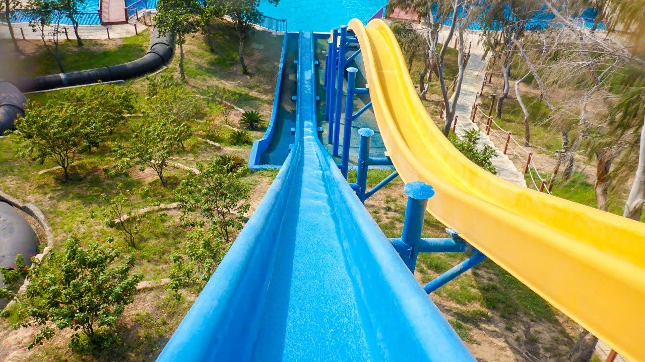dreamland aqua park blue kamikaze freefall water