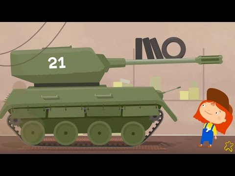 Доктор Машинкова. Добрый мультик для детей. Танк превращается в трактор