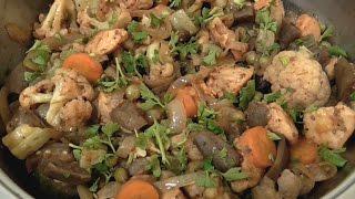 Быстрый рецепт рагу Вкусный ужин Овощное рагу с курицей на сковородке Домашний рецепт на Новый Год