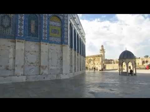 The northern facade of the Dome of the Rock - was built on the Holy of Holies of the Jewish Temple