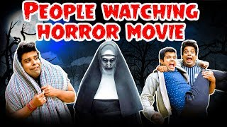People Watching HORROR Movie | The Half-Ticket Shows