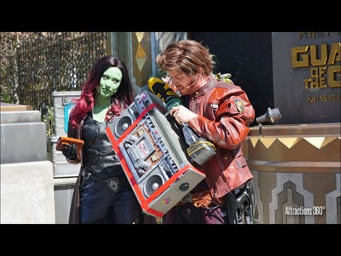 [HD] Guardians of the Galaxy: Awesome Dance Off! at Disney California Adventure