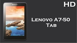 Lenovo A7-50 Calling Tab launch with 1 GB RAM, 3450 mAh battery, 1.3 Ghz Quad Core Processor
