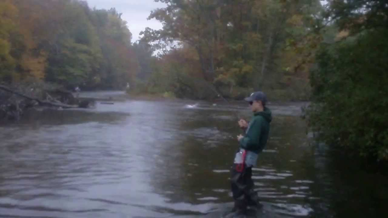 Kid 39 s first king salmon salmon river pulaski oswgo for Best time for salmon fishing in pulaski ny