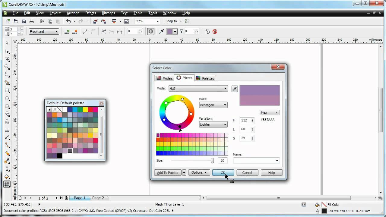 Coreldraw X5 Demo What The Mesh Fill Tool Can Do Youtube