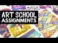 A Year of Art School Projects // My Art Homework
