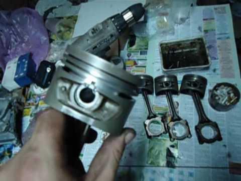 Фото к видео: Как установить кольца от ВАЗ на двигатель Nissan GA16DE