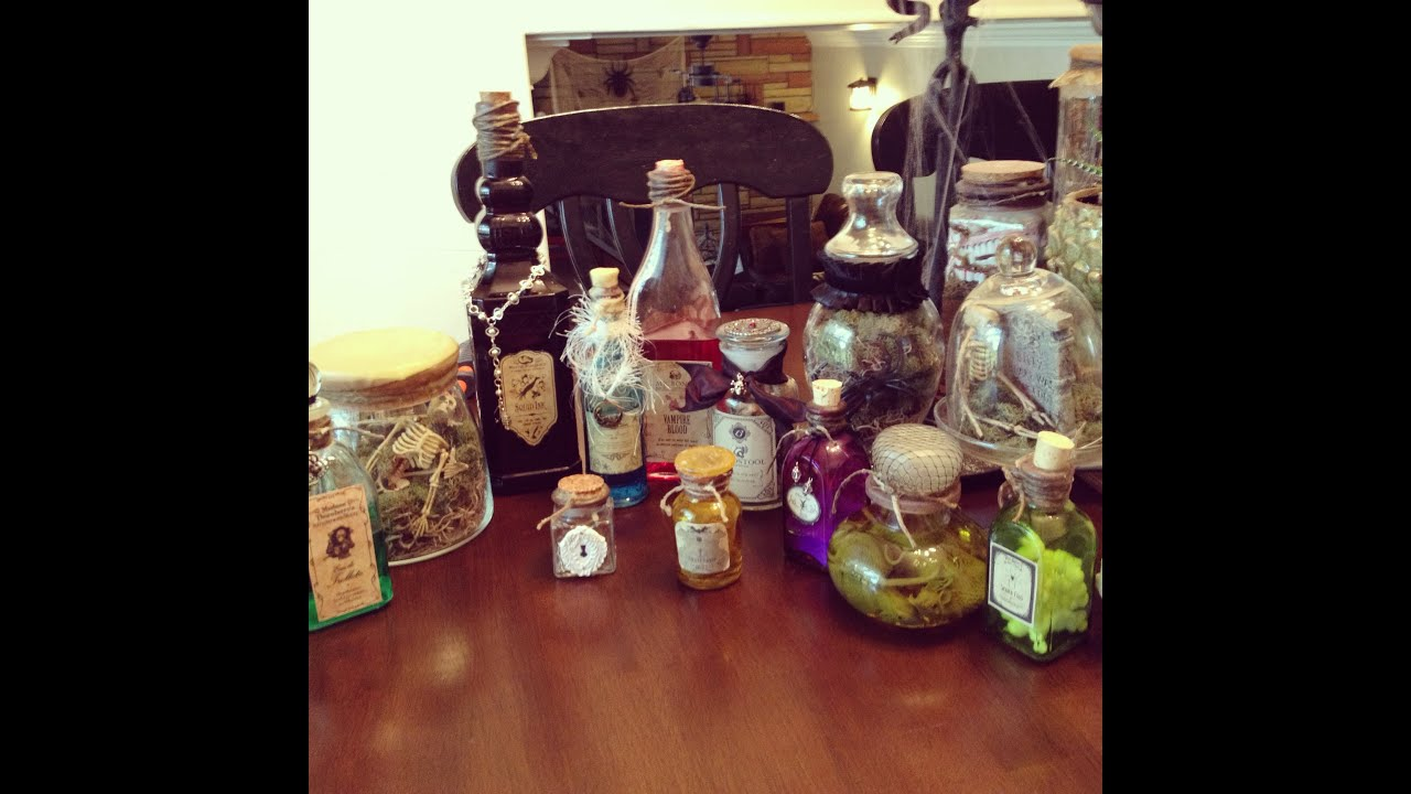 How To Make Halloween Apothecary Jars Youtube