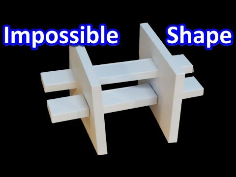 DIY Optical Illusion Kit - Impossible Shape of Wall and Column