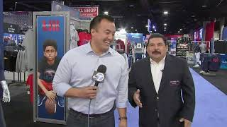 Jimmy Kimmel dispatched his security guard/sidekick Guillermo to Atlanta to ask the Rams and Patriots players some of the tough questions. ABC7 caught up ...