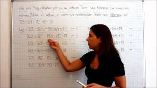 Natürliche Zahlen, Addition und Subtraktion, Klammersetzung, Beispiel