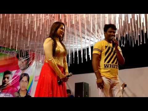 stage show  of  Kajal Raghwani  with alok kumar 2017