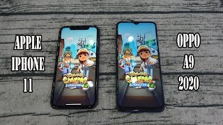 Apple iPhone 11 vs Oppo A9 (2020) | SpeedTest and Camera comparison