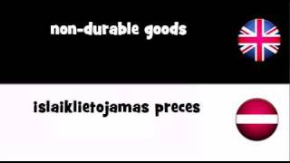 TRANSLATE IN 20 LANGUAGES = non durable goods
