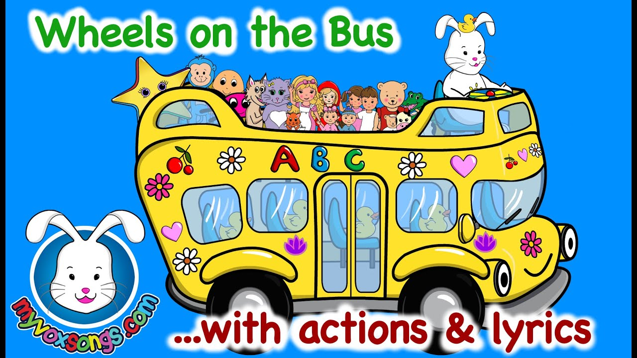 the wheels on the bus song for children yellow bus youtube