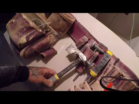 What's in my tool bags, drywall set up. Occidental leather big oxy nailbags