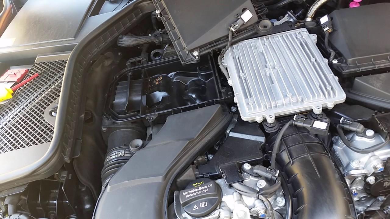 2015 mercedes c400 intake air filter replacement w205  [ 1280 x 720 Pixel ]
