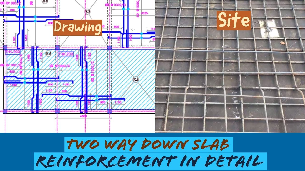 Two Way Down/Dropped Slab Reinforcement in Detail