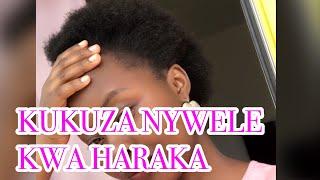 Jinsi Ya Kurefusha Na Kukuza Nywele kwa haraka nywele za kipilipili kwa kutumia maji ya mchele!!