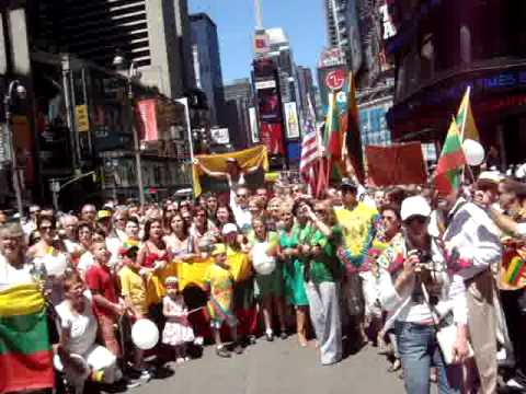 Lithuania 1000 anniversary NY, Time Square in 07/05/09