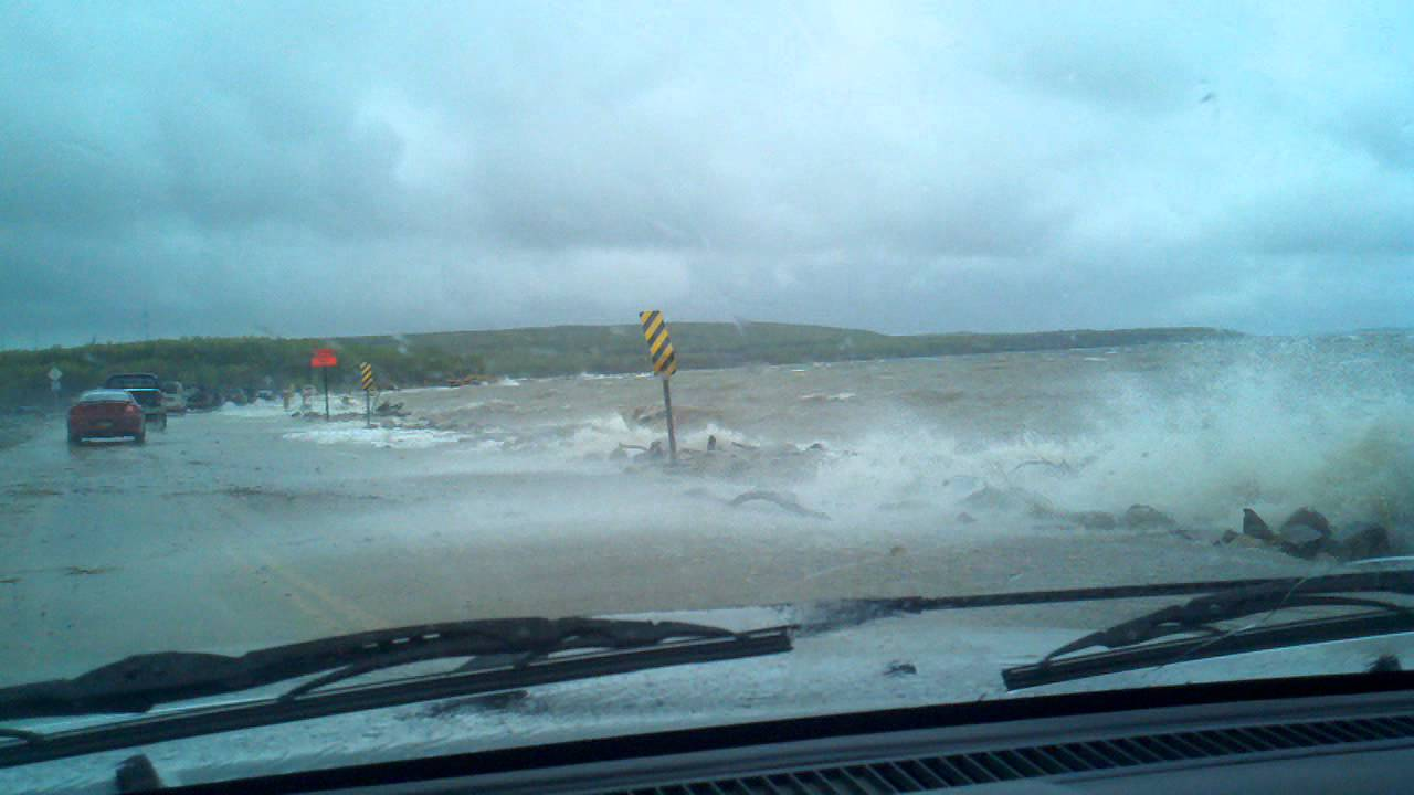 Devils Lake Nd >> Water Overtaking Road Devils Lake, ND - YouTube