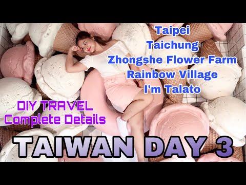 taiwan-vlog-day-3!-taipei-to-taichung-city,-zhongshe-flower-market,-rainbow-village,-i'm-talato
