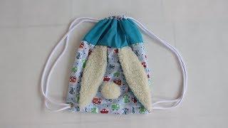 Mochila de coelhinho para menino ou menina