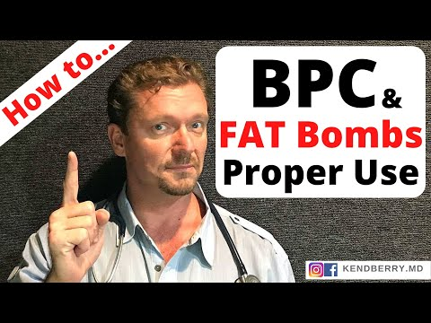 How to Use BPC and Fat Bombs Properly 2018