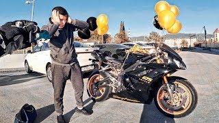 Подарил мотоцикл другу за 350.000р - Первый раз на СПОРТБАЙКЕ