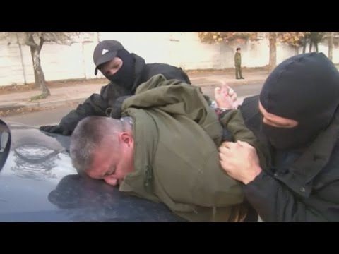 Russia claims footage shows the arrest of Ukranian saboteurs by the FSB