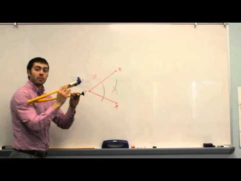 How to Bisect an Angle Using a Compass - Geometry