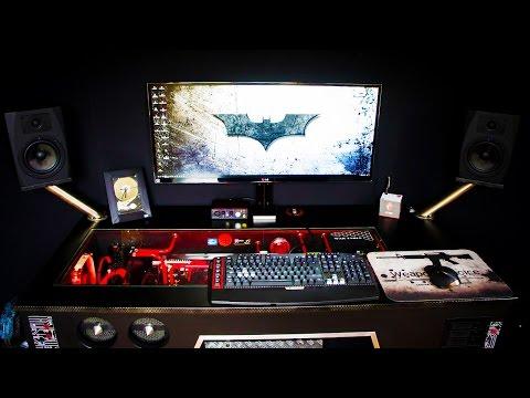 "AMAZING ""War Table""  PC Desk Setup - Setup Spotlight"