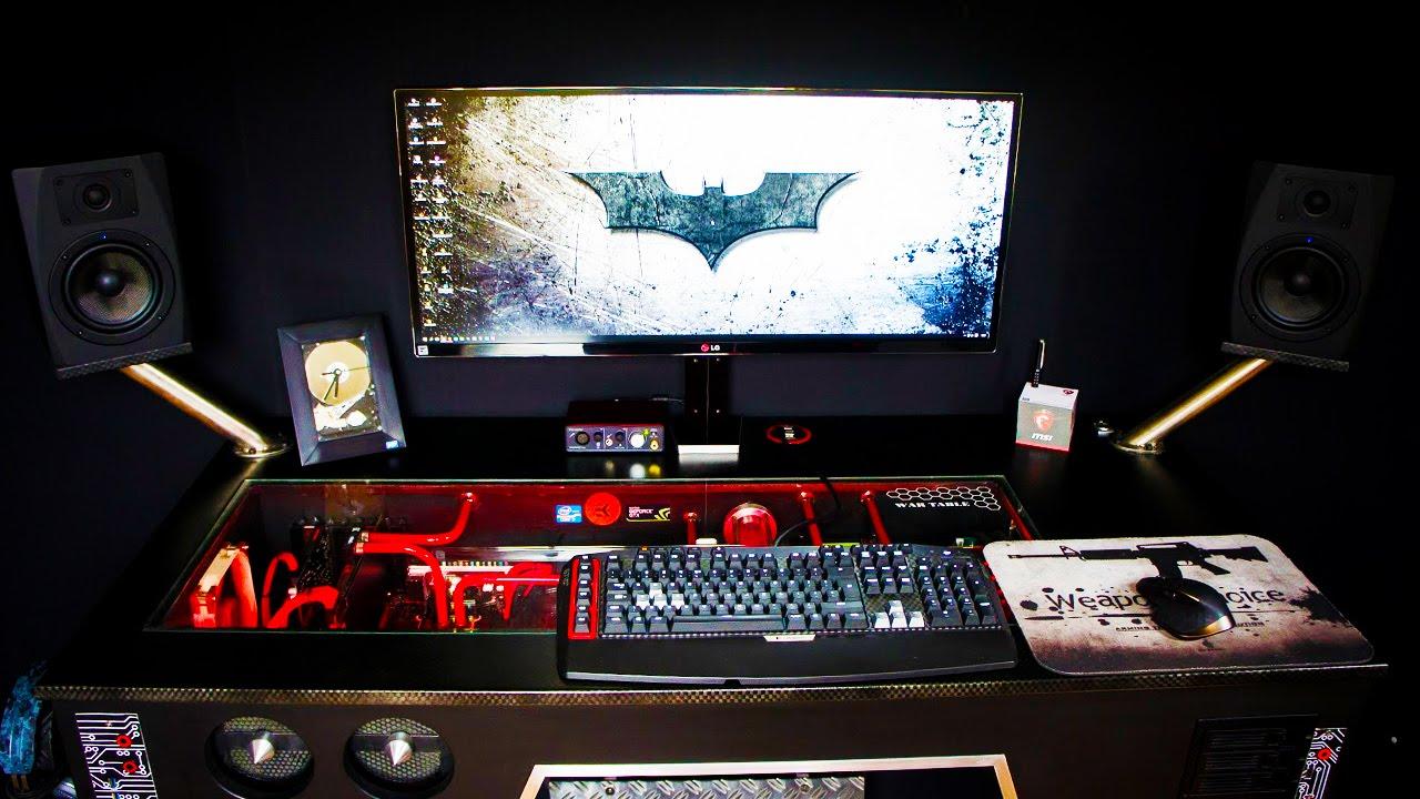 AMAZING War Table PC Desk Setup  Setup Spotlight  YouTube