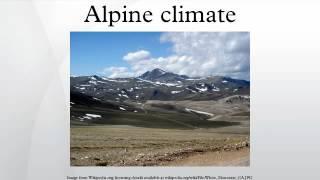 Alpine climate