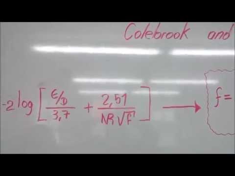 Iteracion formula de colebrook and white (Coeficiente de fricción)