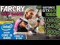 Far Cry New Dawn - GTX 1060 6gb / 3gb - 1080p - 1440p - 1800p - 4K - i5 8400 / i3 8100 Benchmark PC