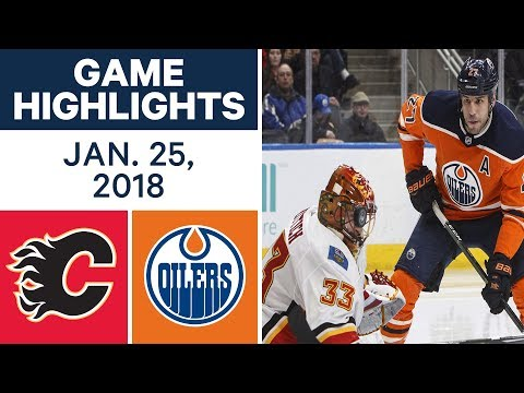 NHL Game Highlights | Flames vs. Oilers - Jan. 25, 2018