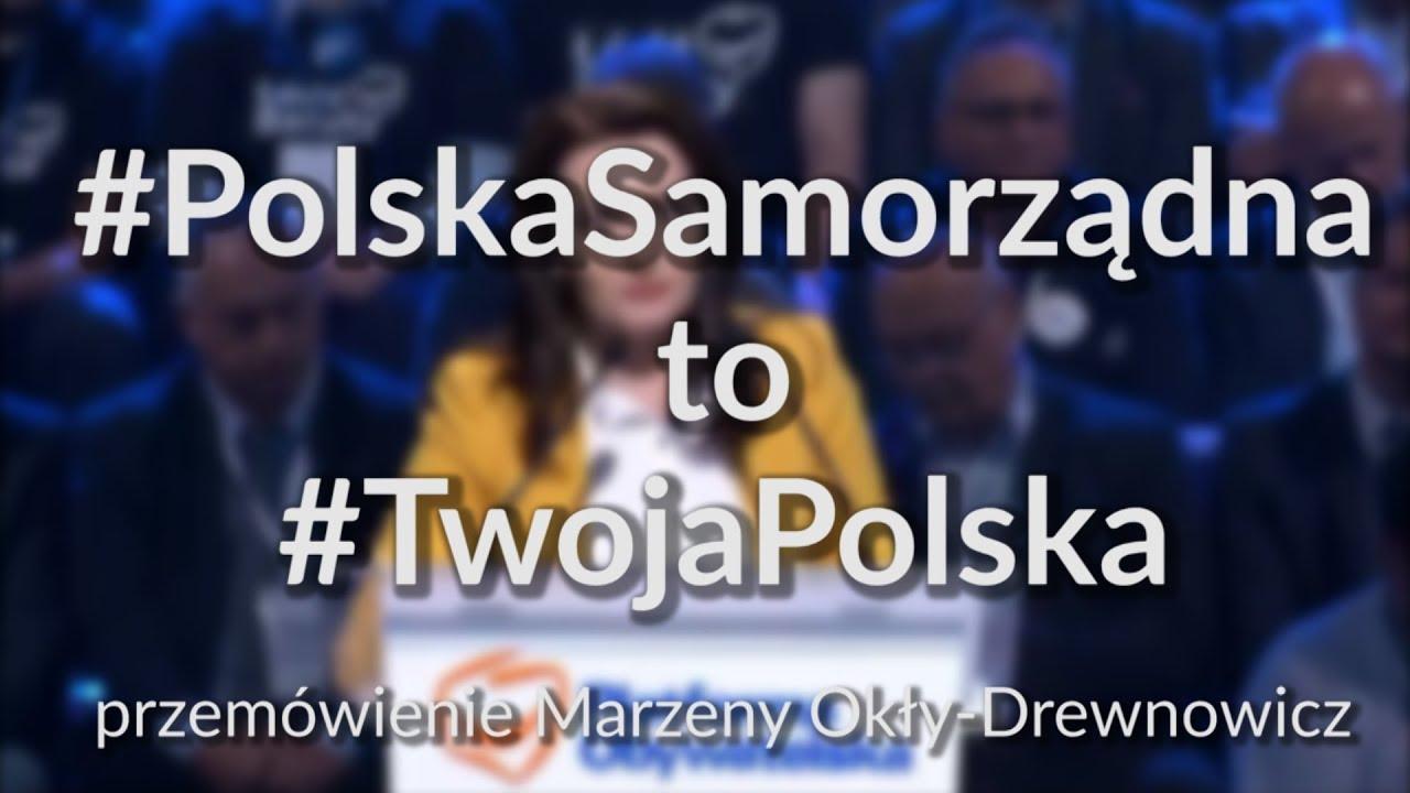 Marzena Okła-Drewnowicz –  Polityka senioralna ( przemówienie)