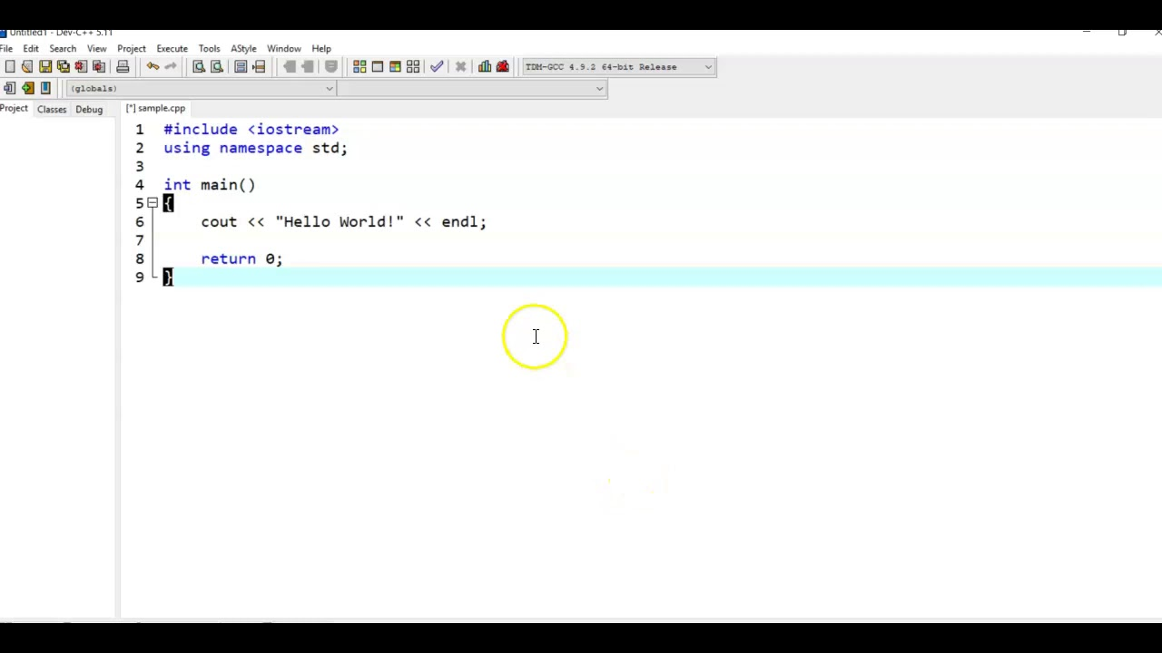 A Simple C Program Using Dev C And System Pause Youtube