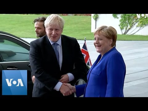 German Chancellor Merkel Welcomes British Prime Minister Johnson to Discuss Brexit Deal