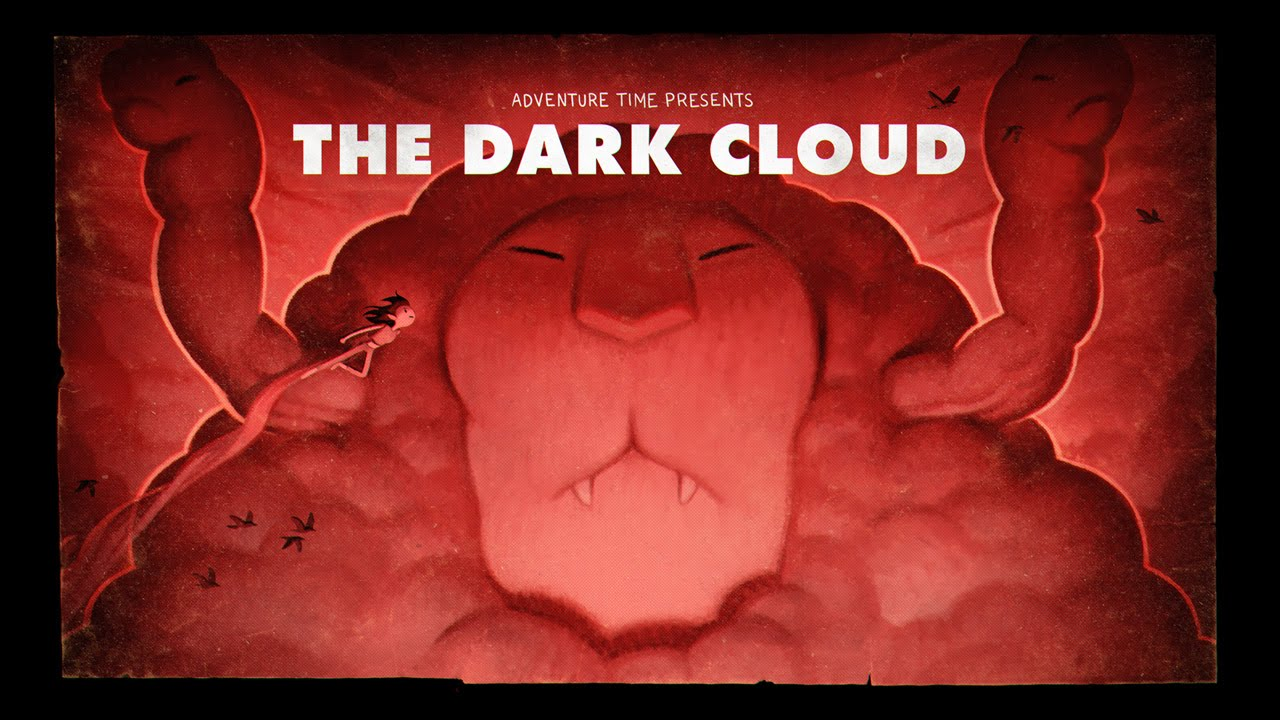 adventure time title card painting process the dark cloud youtube