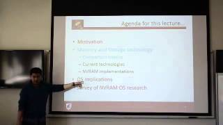 NVRAM and Operating Systems lecture - Sean Lim - part 1