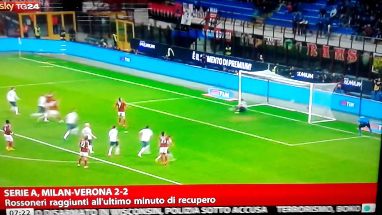 MILAN HELLAS VERONA 2-2 Sky Highlights - YouTube