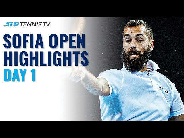 Paire Faces Davidovich Fokina; Mannarino & Kecmanovic In Action | Sofia Open 2021 Highlights Day 1
