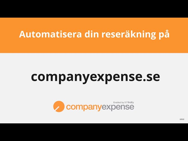 Companyexpense.se - Kvitton helt digitalt