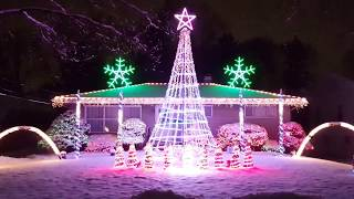 2016 Best Christmas Light Display to Music Hallelujah -Lindsey Stirling