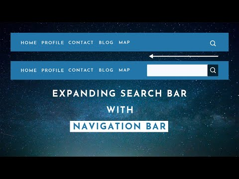 Expanding Search Box With Navigation Bar Using HTML, CSS And Jquery