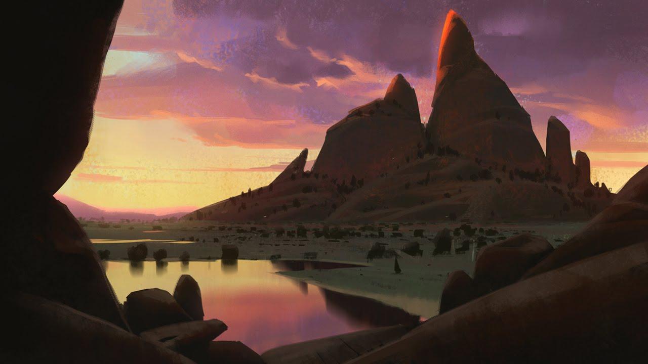 Savana Mountain Digital Painting Youtube