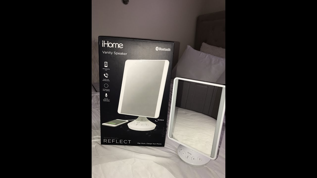 Ihome Bluetooth Vanity Speaker Mirror Youtube