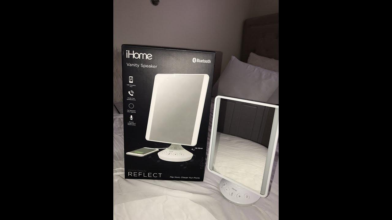 ihome bluetooth vanity speaker mirror